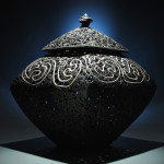 Lidded Vessel, Black Porcelain